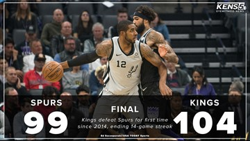 Spurs fall to Kings in Sacramento, 104-99