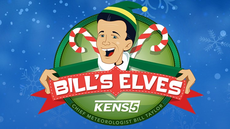 BILL'S ELVES: Drop off unwrapped gifts and meet KENS 5's Bill Taylor!