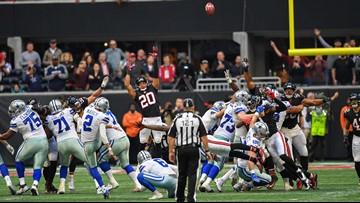 Maher's walk-off field goal downs Falcons, Cowboys 5-5 on season
