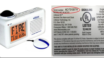 10,000 bedside fire alarms for hard-of-hearing recalled due to alert 'bed shake' failure
