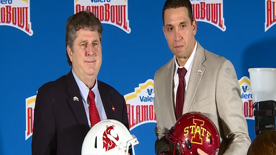 Mike Leach and Matt Campbell set the stage for 2018 Alamo Bowl