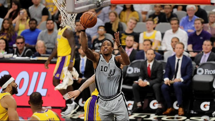 BKN Spurs guard DeMar DeRozan goes to the hoop against the Lakers 2018_1544209196591.jpg.jpg