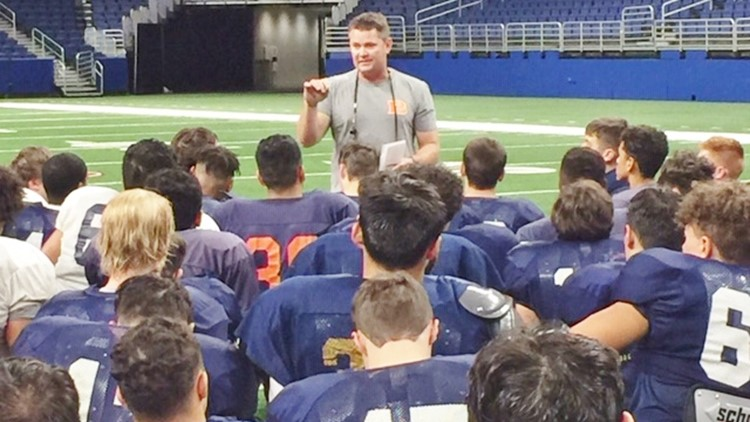 FBH Brandeis coach David Branscom talking to his players at Alamodome 2018_1544288136437.jpg.jpg