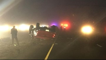 Part of I-35 shut down after 8-vehicle crash in Frio County