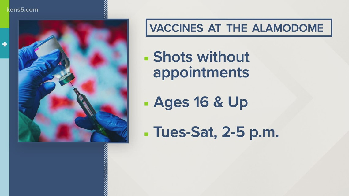 No appointment needed for COVID-19 vaccines being offered at Alamodome