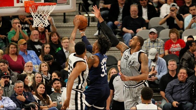 BKN Spurs Rudy Gay and LaMarcus Aldridge play defense vs. the Wolves 12212018_1545462407510.jpg.jpg