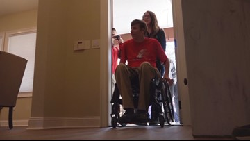 Purple Heart recipient gets special homecoming