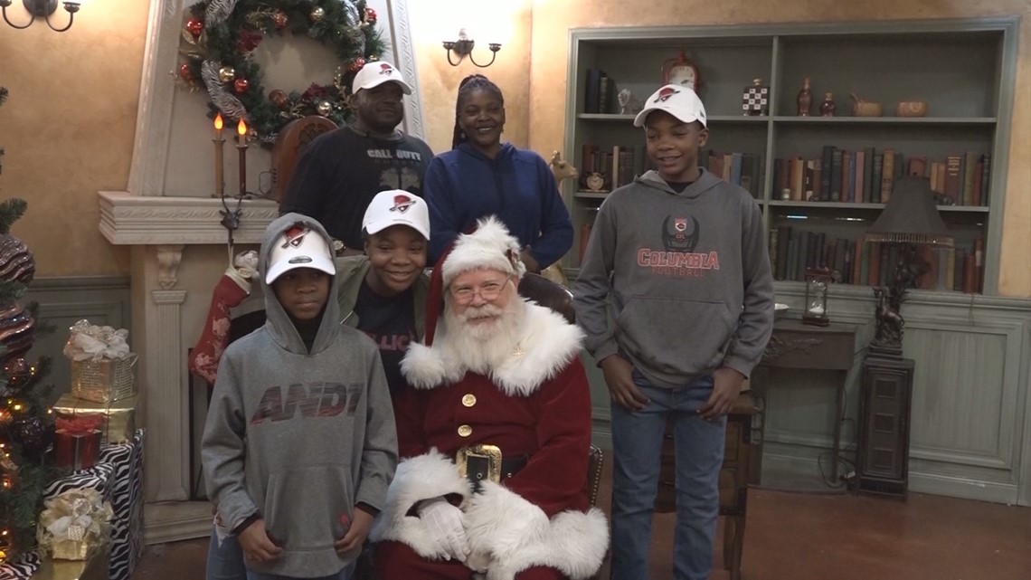 Deserving Families Surprised On Christmas Eve At San
