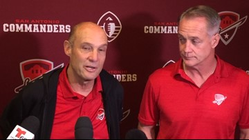 Commanders head coach Mike Riley has rooting interest in 'Bama-Clemson game