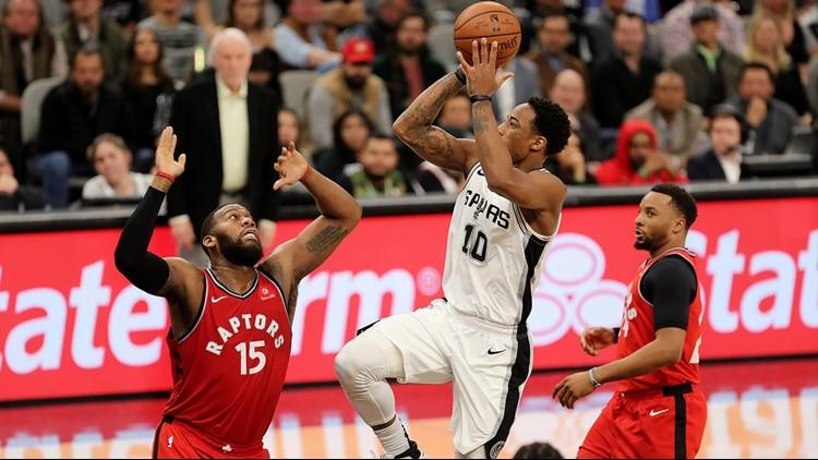 BKN Spurs guard DeMar DeRozan goes up for a shot against the Raptors_1546697118341.jpg.jpg