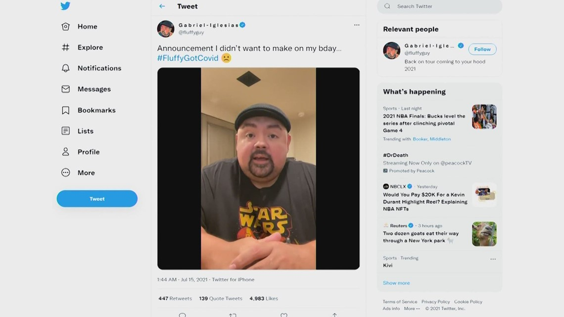 Gabriel 'Fluffy' Iglesias cancels remaining San Antonio shows after contracting COVID-19