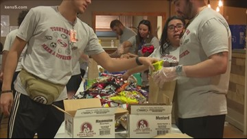 Student-athletes team up to feed local homeless