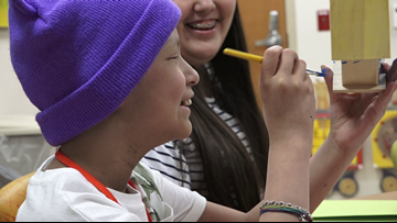 Children with cancer coping with anxiety, trauma through art therapy