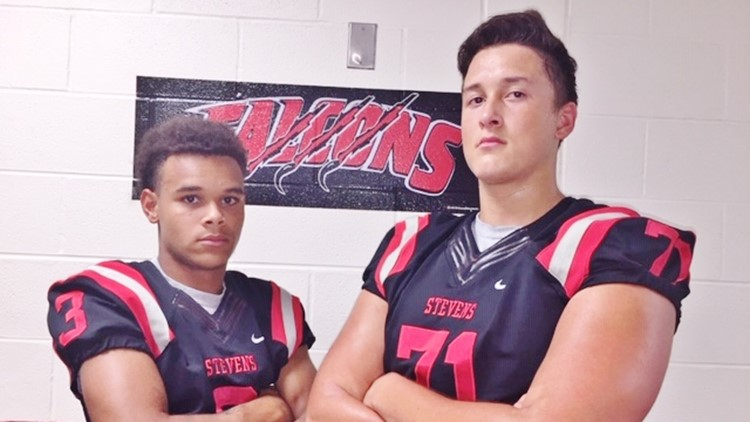 FBH Stevens strong safety Eli Alexander and offensive tackle Christopher Bolling