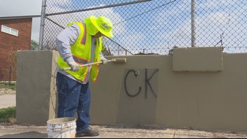 Profane message spray-painted on east San Antonio wall targets neighborhood newcomers
