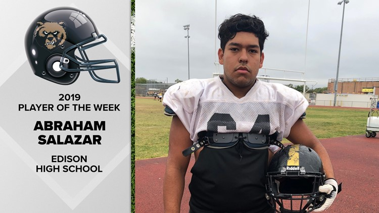 Abraham Salazar sets example at Edison High School   FNF Player of the Week