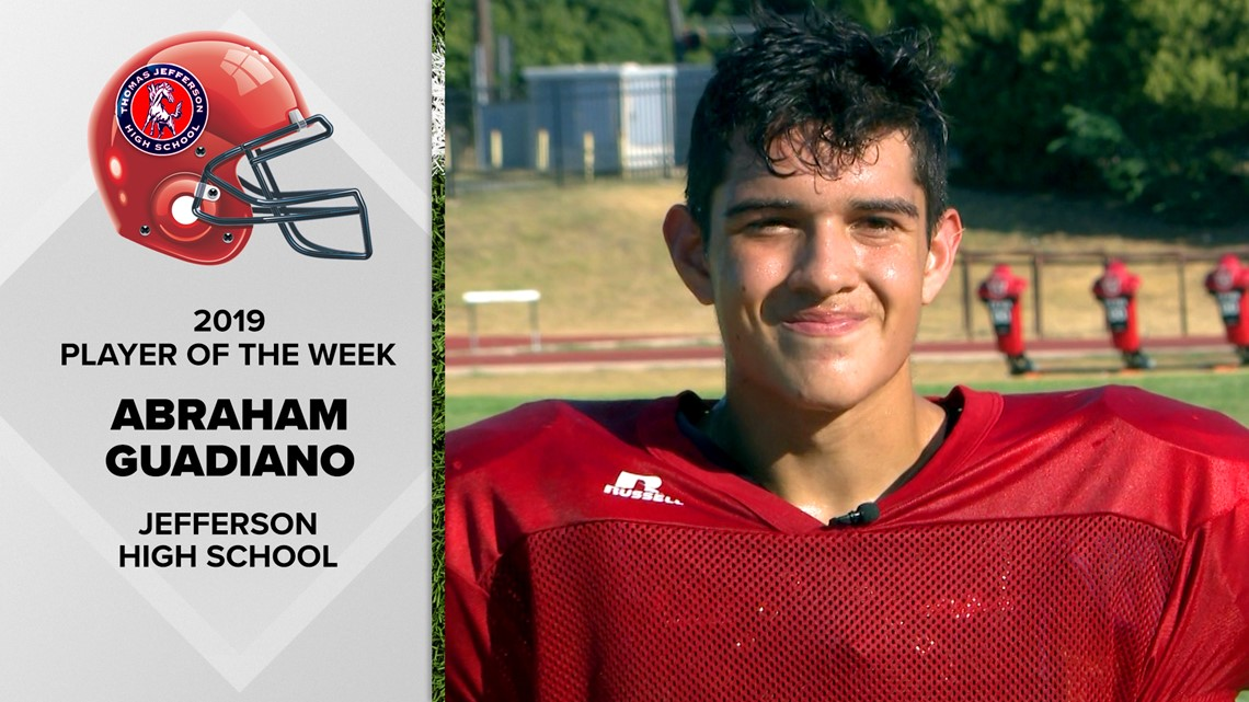 Jefferson's Abraham Guadiano's on-field versatility matches his off-field ambitions | FNF Player of the Week