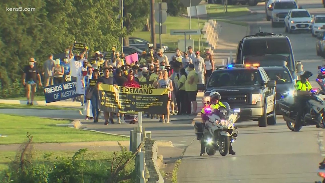 Three-day march to Texas capitol ends with voting rights rally