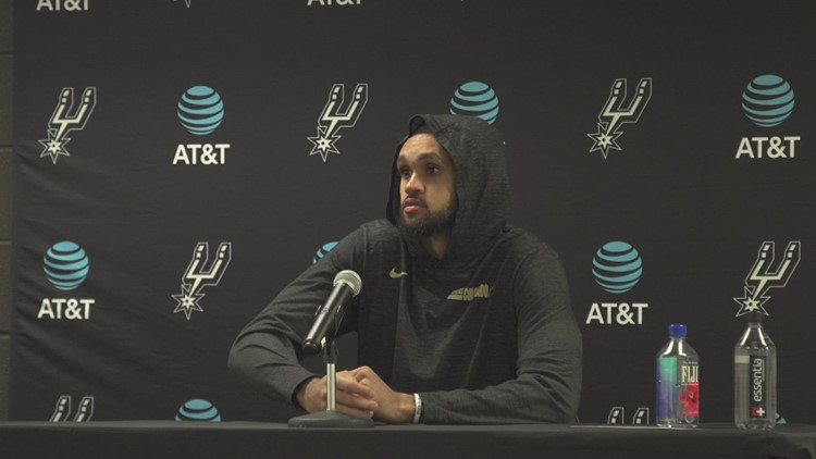 Derrick White speaks about Doug McDermott, Spurs' shooting after 121-111 loss to Bucks