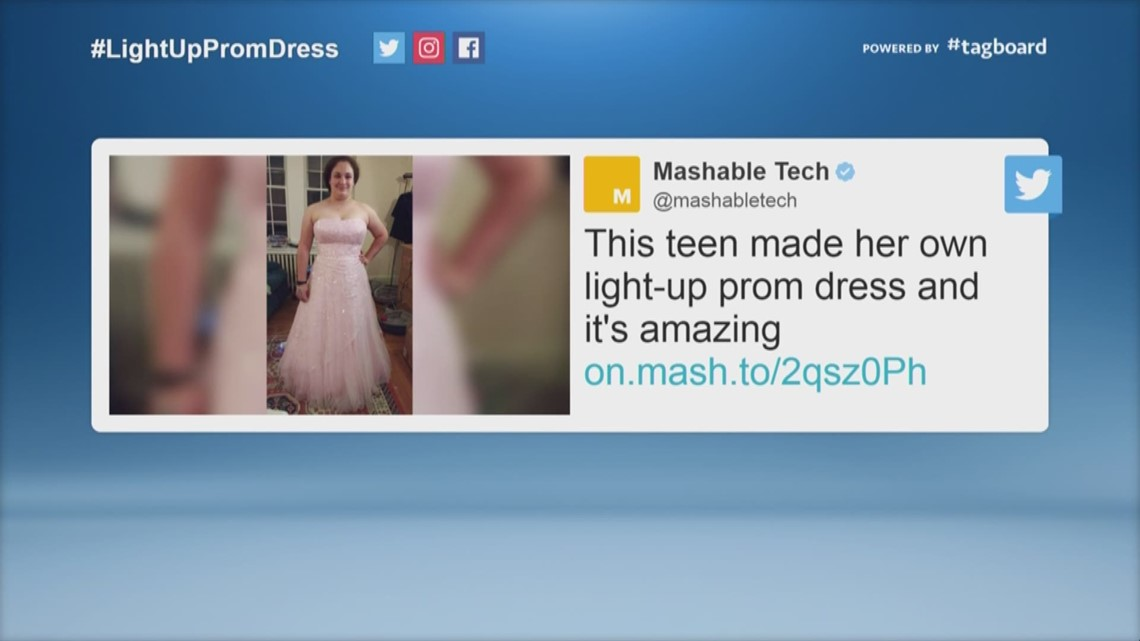 Teen Creates Light Up Prom Dress Kens5com