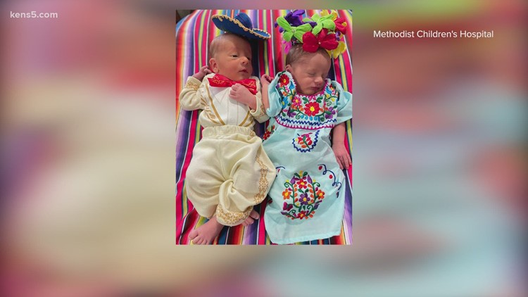 Fiesta twins! These cuties are ready to viva