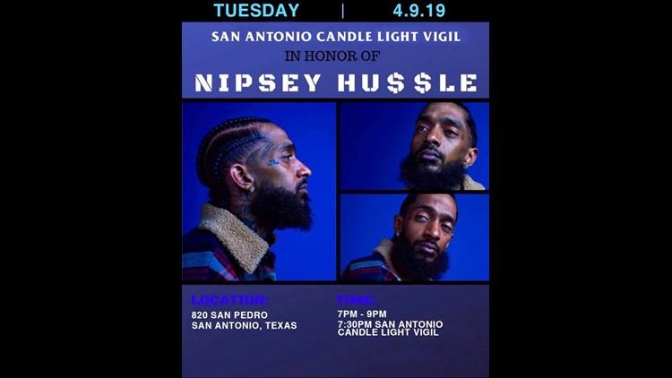 Nispey Hussle vigil in San Antonio
