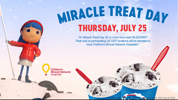 Dairy Queen hosting 'Miracle Treat Day'
