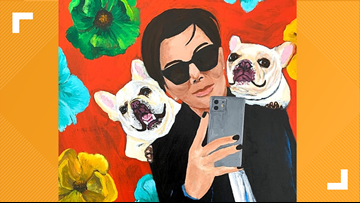 This artist can paint your pet posed next to a celebrity