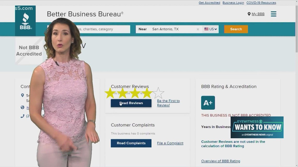 What goes into a Better Business Bureau rating?