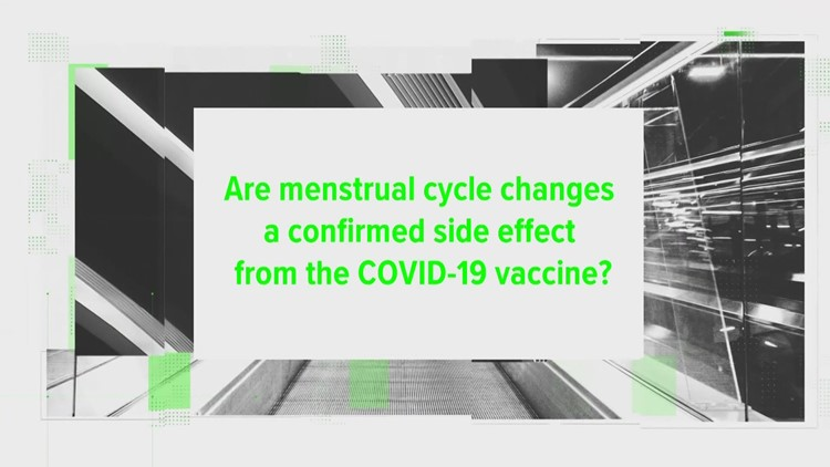Are menstrual cycle changes a confirmed side effect from the COVID vaccine?