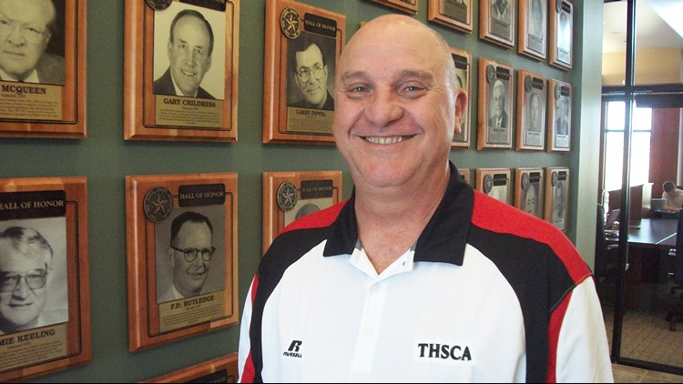 FBH Former Judson coach D.W. Rutledge at THSCA office in San Marcos