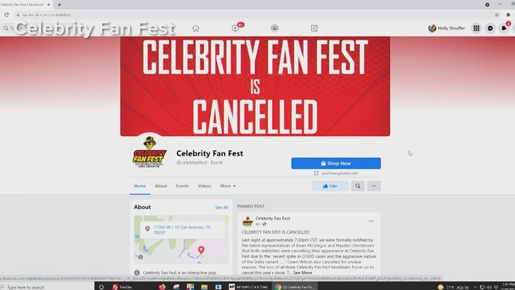 Celebrity Fan Fest canceled after all three headliners back out