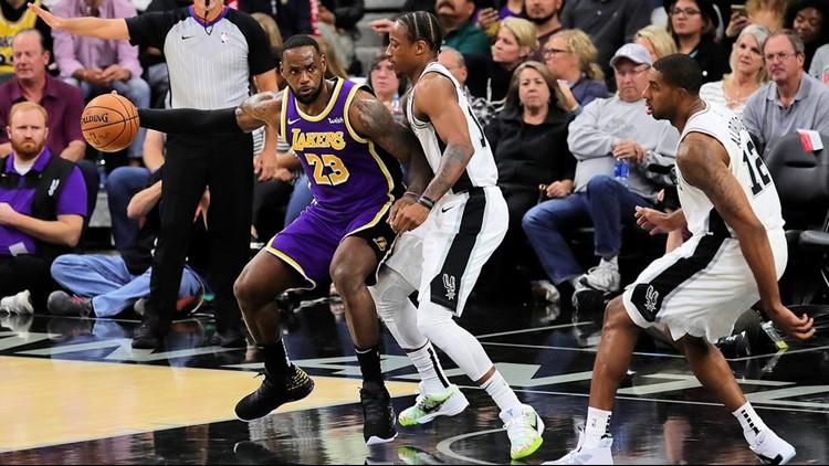 BKN Spurs star LeBron James backs up DeMar DeRozan 11032019