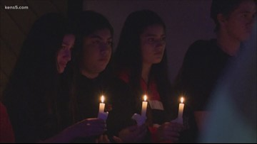 Vigil held for Reagan High student