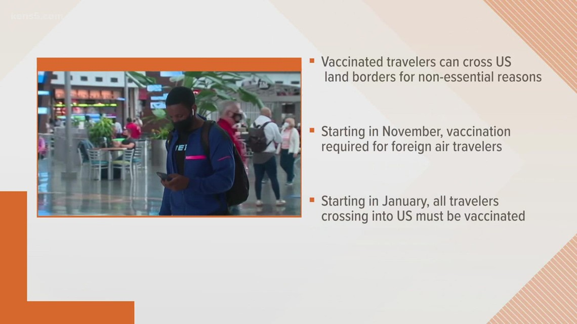 US land crossings to reopen to vaccinated travelers in November, Biden admin says
