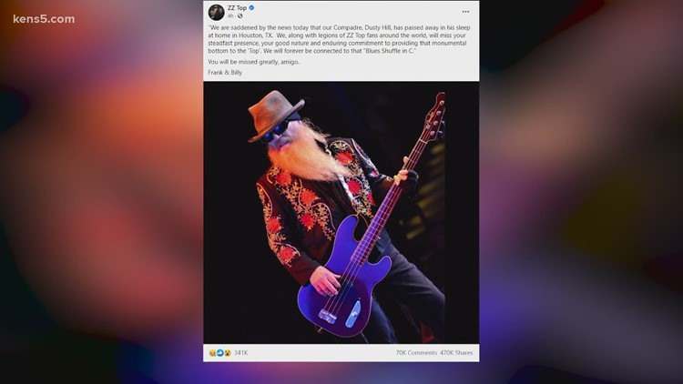 ZZ Top bassist, Houston native Dusty Hill dies at 72