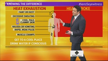 Spotting the signs of heat stroke and heat exhaustion