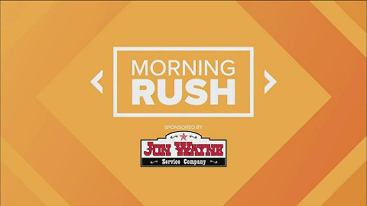 Morning Rush: String of robberies, sixth Texas democrat contracts COVID-19, 'Stuff the Bus' campaign & teen makes the finals for duct tape tuxedo