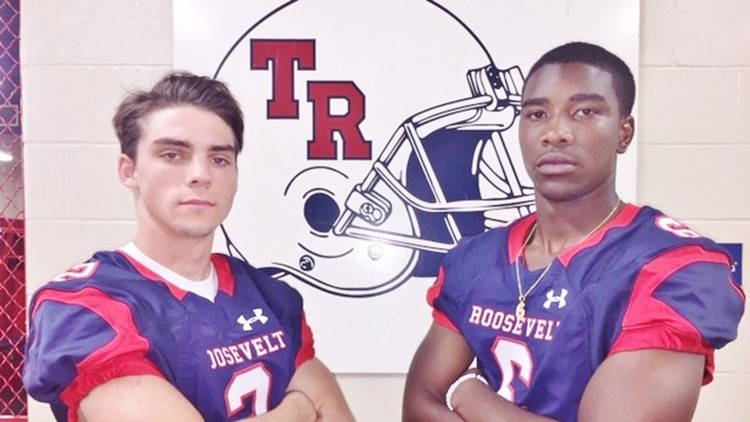 FBH Roosevelt free safety Landon Foster and running back Rashod Owens