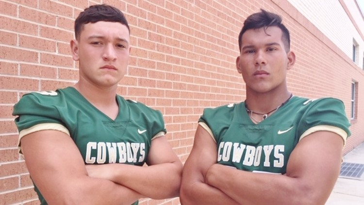 FBH McCollum junior quarterback Ryan Ramirez and outside linebacker Jared Luevanos