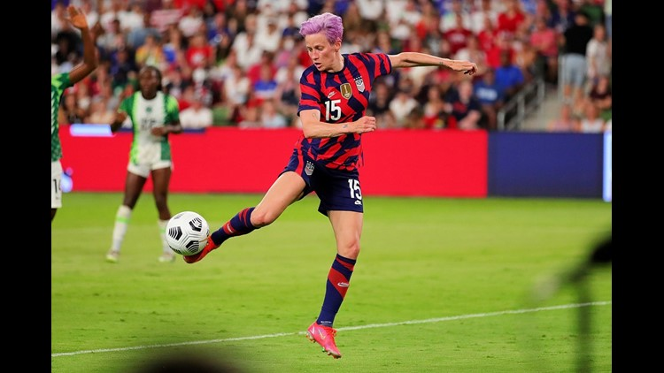 PHOTOS: U.S. Women's National Team shuts out Nigeria 2-0 in front of packed crowd in Austin