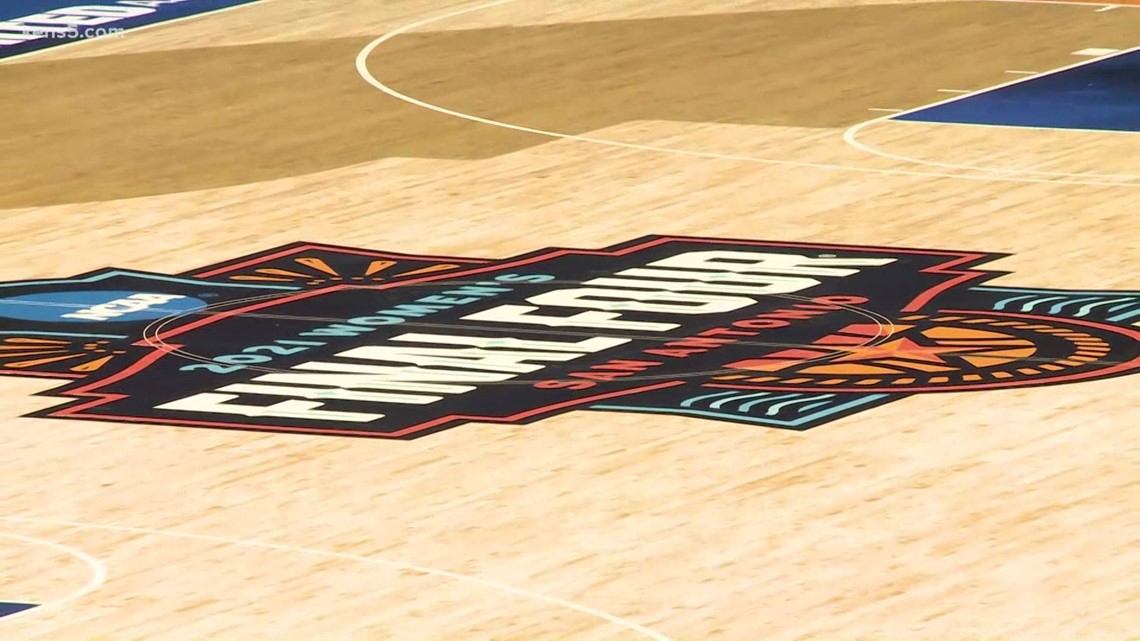 Women's Final Four court being installed in Alamodome