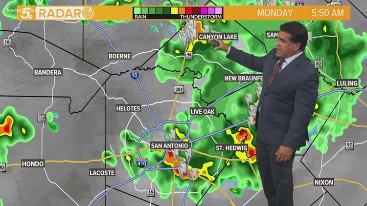 KENS 5 Weather: Severe weather impacts Monday morning commute