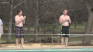 A New Year's polar plunge in west San Antonio