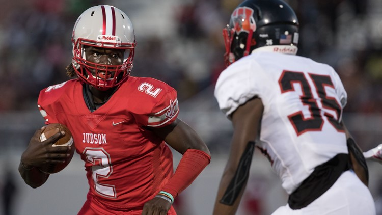 FBH Judson quarterback Mike Chandler II on the move against Wagner 2019