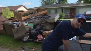 Cleanup begins after Tropical Storm Imelda