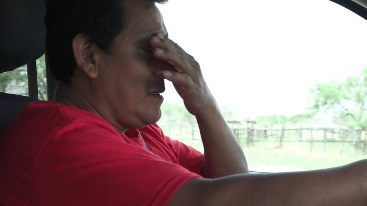 Armando Martinez upset at the red tape keeping him from searching for his son