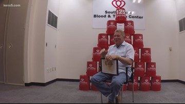 Man helps save over 3,000 lives by donating 125 gallons of blood and platelets
