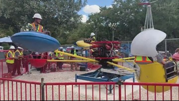 'Kiddies' at heart: Maintenance workers put Kiddie Park rides to the test