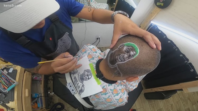 Using clippers to create wearable works of art   Made in S.A.